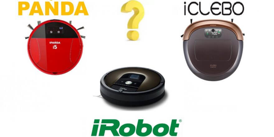 Panda i5, iClebo Omega или iRobot Roomba 980