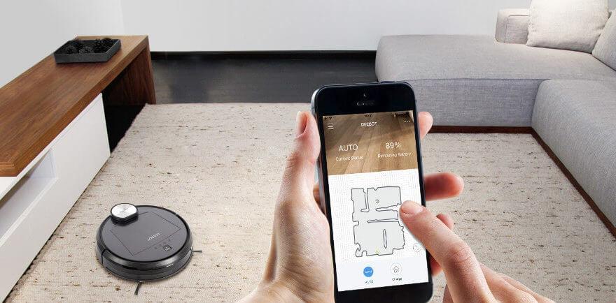 Робот-пылесос с Wi-Fi управлением