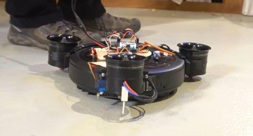 Самодельный летающий робот-пылесос