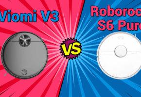 Сравнение роботов-пылесосов Viomi V3 и Roborock S6 Pure