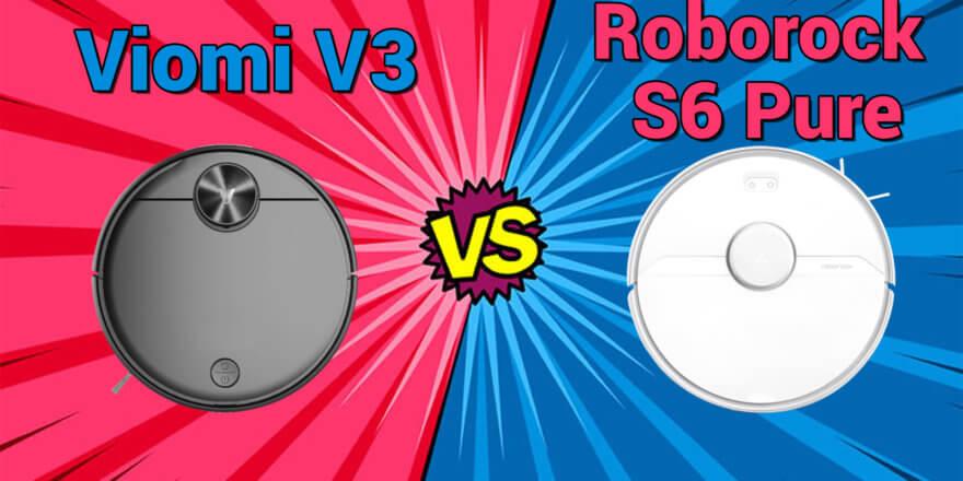 Viomi V3 и Roborock S6 Pure